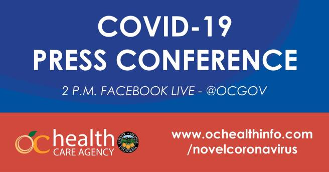 Orange County COVID-19 Facebook Live Press Conference Thursday July 30 2020