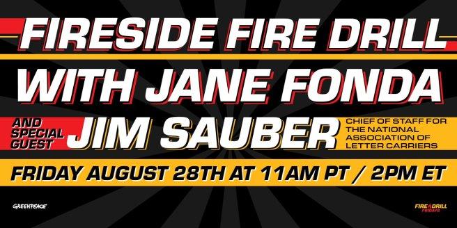 Greenpeace Jane Fonda Firedrill Fridays August 28 2020 Focus on USPS