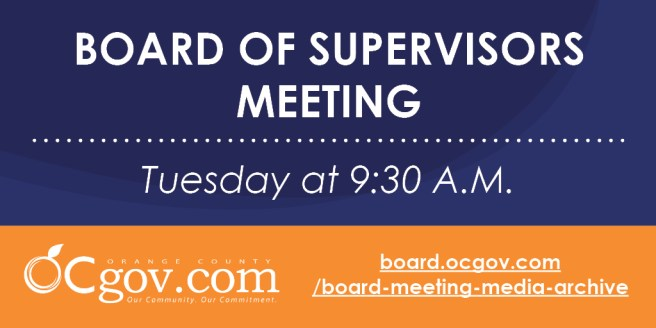 Orange County Board of Supervisors Meeting Tuesday September 1 2020
