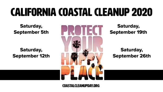 California Coastal Cleanup Saturdays September 2020