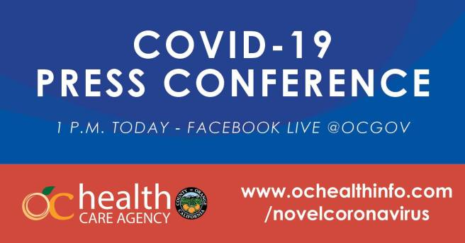 County of Orange California COVID-19 Facebook Live Press Conference October 15 2020