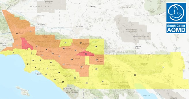 South Coast Air Quality Management District Air Quality for Southern California October 18 2020