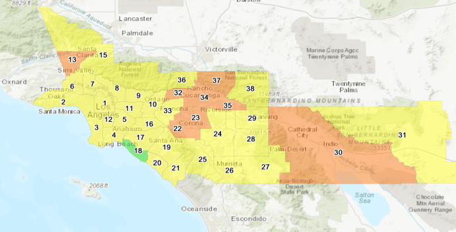 South Coast Air Quality Management District AIr Quality for Southern California October 7 2020