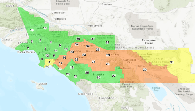 South Coast Air Quality Management District Air Quality for Southern California October 26 2020