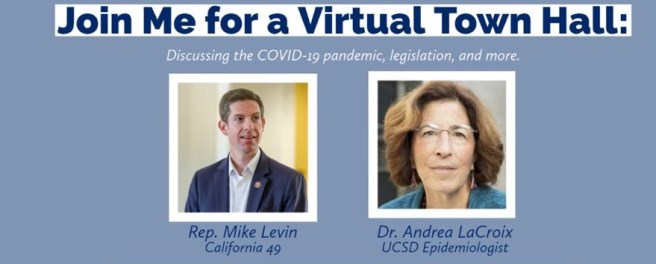 U.S. Representative Mike Levin COVID-19 Virtual Town Hall Wednesday November 18 2020