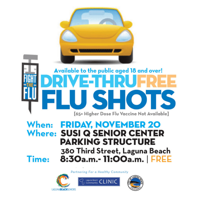 Laguna Beach Free Drive Thru Flu Shots November 20 2020