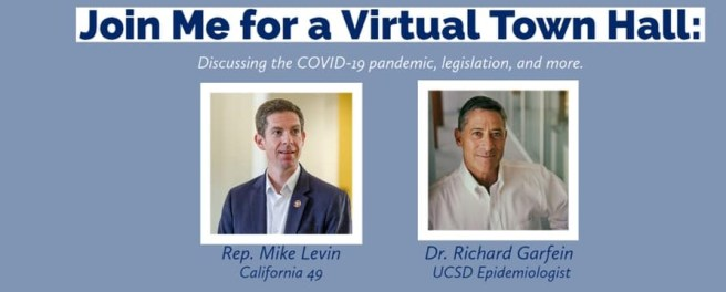 U.S. Representative Mike Levin COVID-19 Virtual Town Hall Wednesday December 16 2020