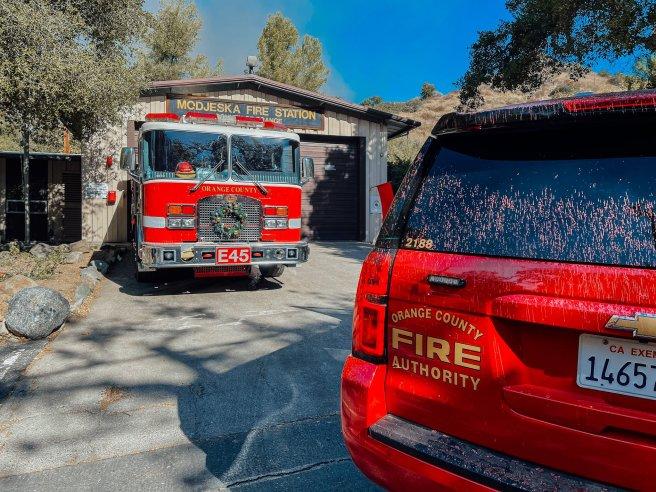 Bond Fire Modjeska Fire Station Courtesy of OCFA PIO (twitter)