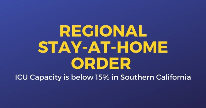 Southern California Regional Stay At Home Order December 6 2020 Courtesy of The City of Laguna Beach