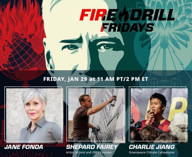 Greenpeace Jane Fonda Fire Drill Fridays January 29 2021