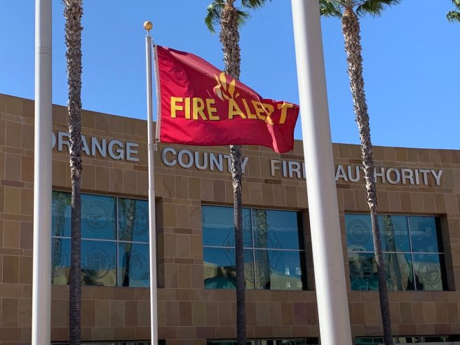 #RedFlag Waring Courtesy of Orange County Fire Authority