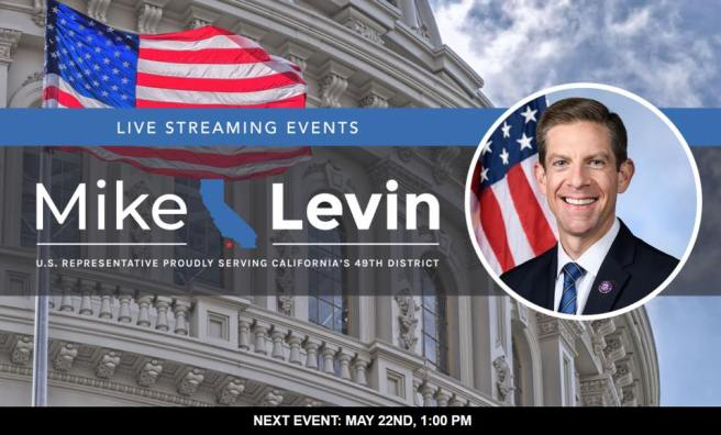Mike Levin Tele Town Hall Saturday May 22 2021