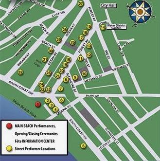 Fête de la Musique Laguna Beach 2021 Musical Locations Map
