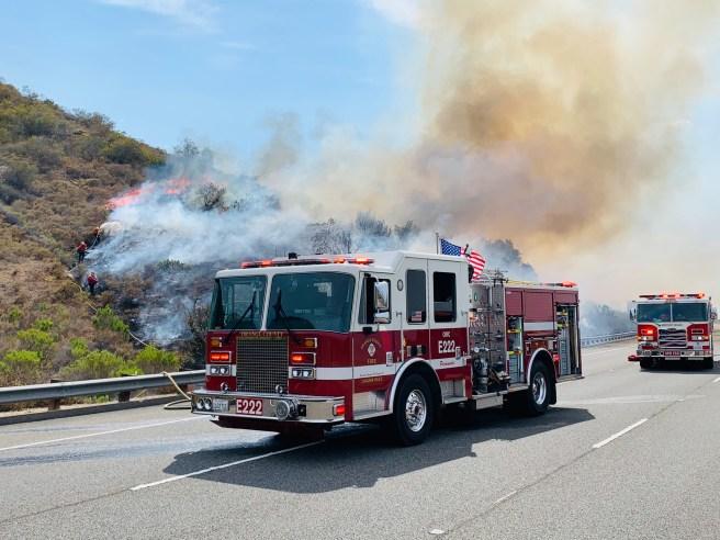 Laguna Canyon Fire June 16 2021 Courtesy of OCFA Twitter Page