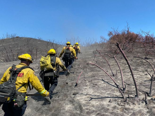 #Chaparral Fire Firefighters Courtesy of Cal Fire San Diego County Facebook Page
