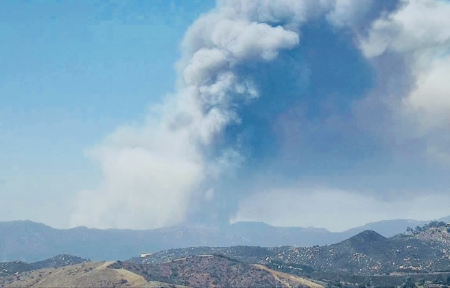 Chaparral Fire Courtesy of U.S. Forest Service-Cleveland National Forest Facebook Page