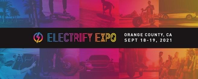 Electrify Expo Irvine California September 18 and September 19 2021