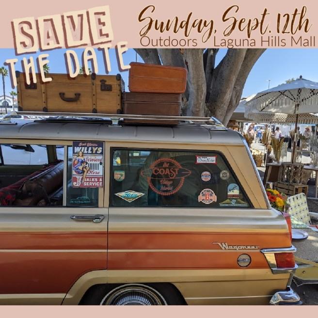 Coast Vintage Market At Laguna Hills Mall Sunday September 12 2021