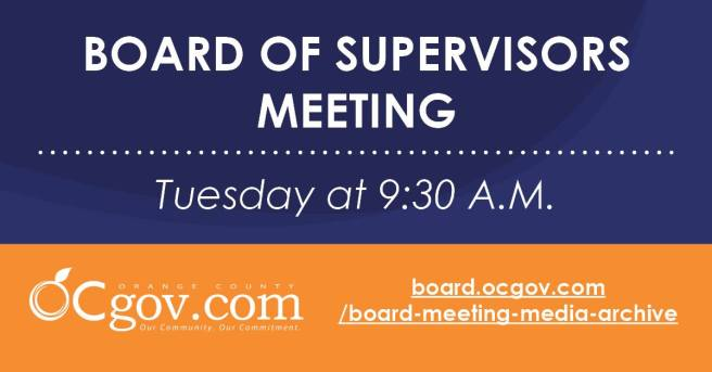 Orange County Board of Supervisors Meeting Tuesday September 14 2021