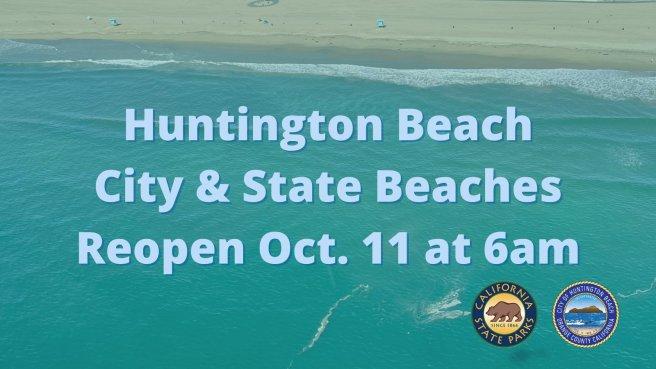 Huntington Beach California Beaches Reopen Monday October 11 2021