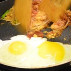 Add eggs at last.