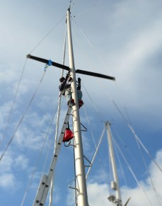 Almost to the spreaders. We have to get this for anchorages within the coral atolls .