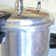 Pressure cooker to cook about half an hour or less
