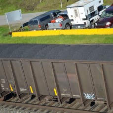 Coal from a mine 1000 kms inland in the Rocky Mountains.