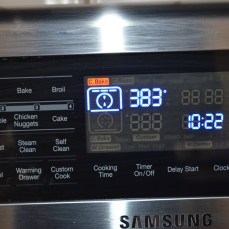convection oven set temperature