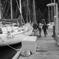 This was the day after the storm. Calm but with another 50 knot storm due in a few hours. We did actually run!