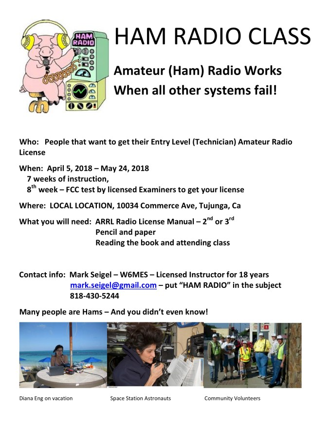 looking for a technician license class? – south pasadena amateur