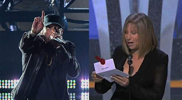 """Barbra Streisand: """"Eminem, I voted for you. I really wanted to hand you an Oscar"""""""