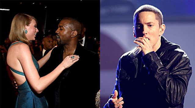 """WATCH: Kanye West tells Taylor Swift he wants to go Eminem mode before dropping """"Famous"""""""