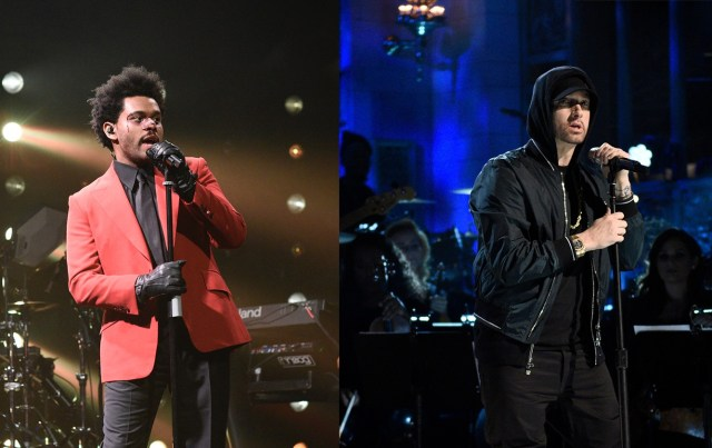 "The Weeknd shouts out Eminem in a new song ""Snowchild"""