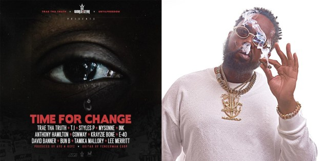 "New Song: Trae Tha Trtuh – ""Time For Change"" ft. T.I., Conway, Styles P, Krayzie Bone & more"