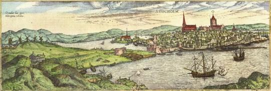 Stockholm-from-south-1570-braun-hogenberg-civitates-orbis-terrarum