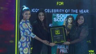 Amala Paul wins SouthScope's Iconic Celebrity of the Year Award