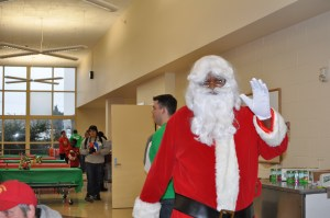 "A jolly ""Santa Claus"" at last year's holiday festival."
