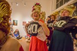 The Beaconettes sing at the Columbia City Gallery, during the Winter Wonderland Columbia City Beatwalk in Seattle, Washington, on Dec. 14, 2019. (Photo: Carolyn Bick)