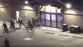 bike cops chasing people
