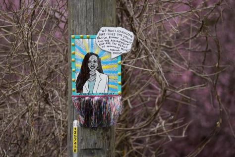 The portrait of Ayanna Pressley is one of the newer pieces by artist thatswhatshesaid206. It is located a block west of PCC in Columbia City.
