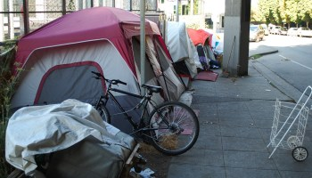 Photo of homeless tent encampment in King County.