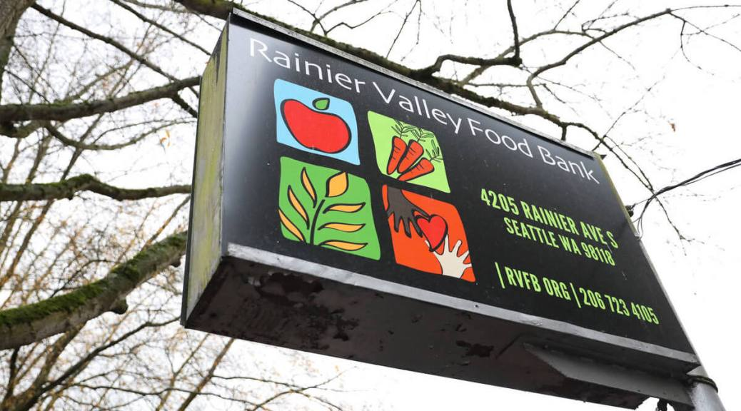 Featured image: Rainier Valley Food Bank sign - photo by Alex Garland