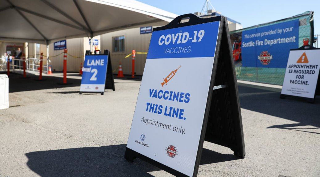 Featured Image: The City of Seattle offers COVID-19 vaccines at a site in Rainier Beach. Appointments are necessary, but walk-up vaccines are available for those age 60 and over. Photo by Alex Garland.