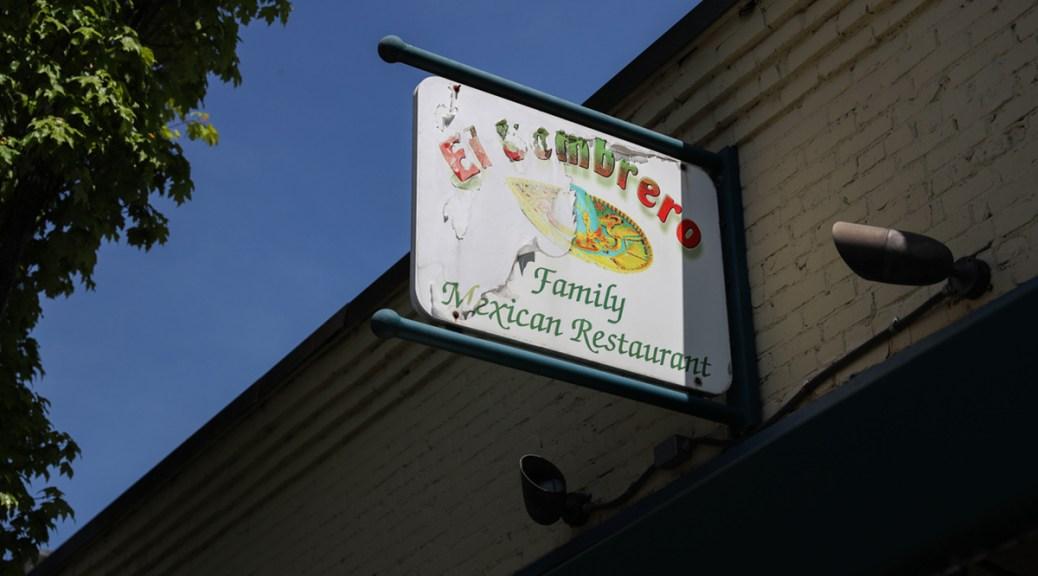 Photo of El Sombrero's restaurant sign.
