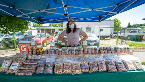 Holmquist Orchards displays its impressive array of nuts and other offerings.