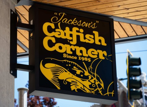 photo of restaurant sign for Catfish Corner