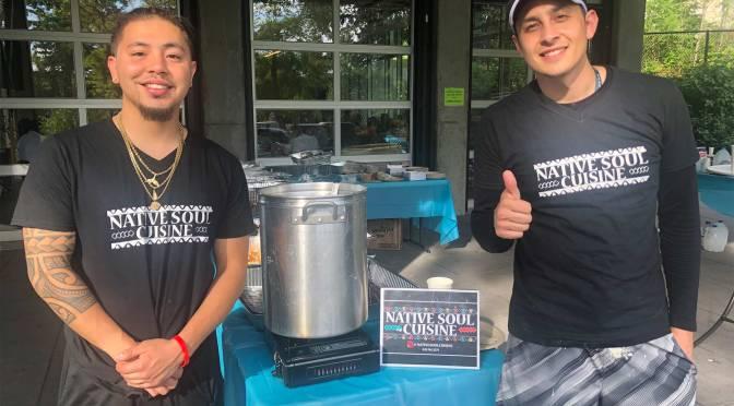 Jeremy Thunderbird (left) creator of Native Soul Cuisine.