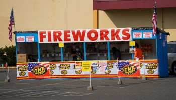 Fireworks Stand in Skyway. (Photo: Susan Fried)