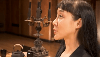 """Mezzo-soprano Hai-Ting Chinn in a screen capture of an excerpt from Tacoma Method taken from """"Tacoma Method: Conversation with Greg Youtz, Zhang Er and Hai-Ting Chinn"""" on YouTube."""